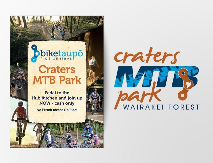 bike taupo logo amp map design by ninetyblack