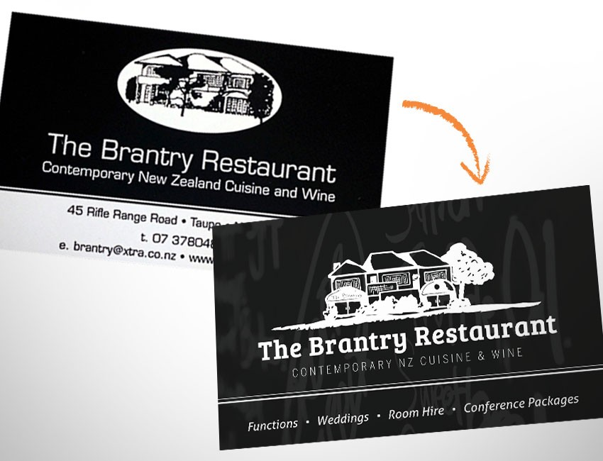 the brantry restaurant taupo logo design by ninetyblack