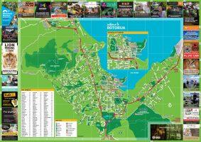 Rotorua Visitor Map, Advertising & Publishing, ninetyblack