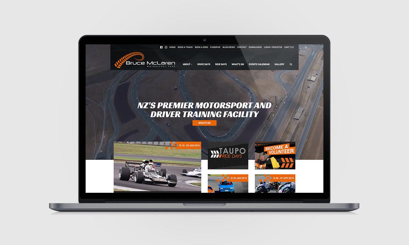 Bruce McLaren Motorsport Park, Web Design & Development, ninetyblack