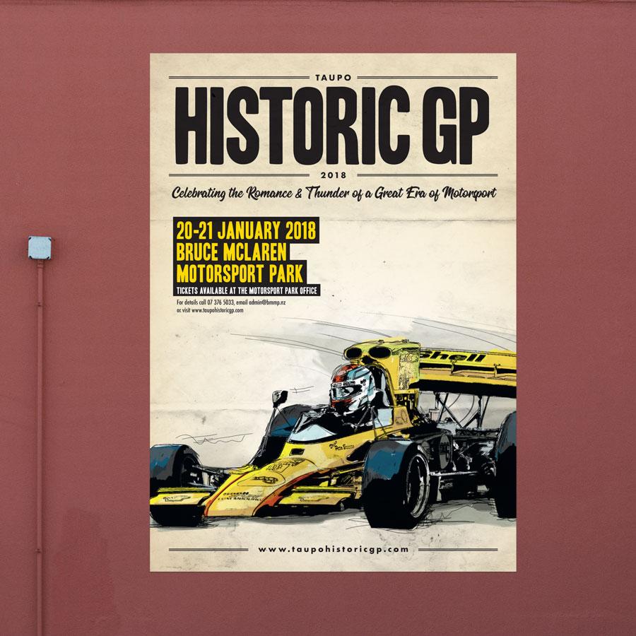Bruce McLaren Motorsport Park, Graphic Design, ninetyblack
