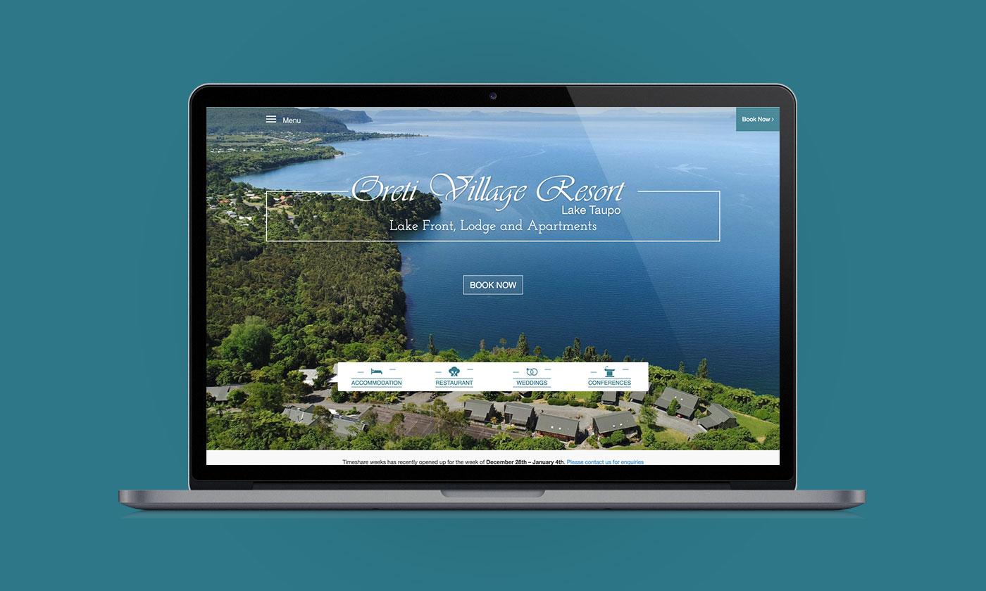 Oreti Village Resort, Web Design, Development, Digital Marketing, ninetyblack