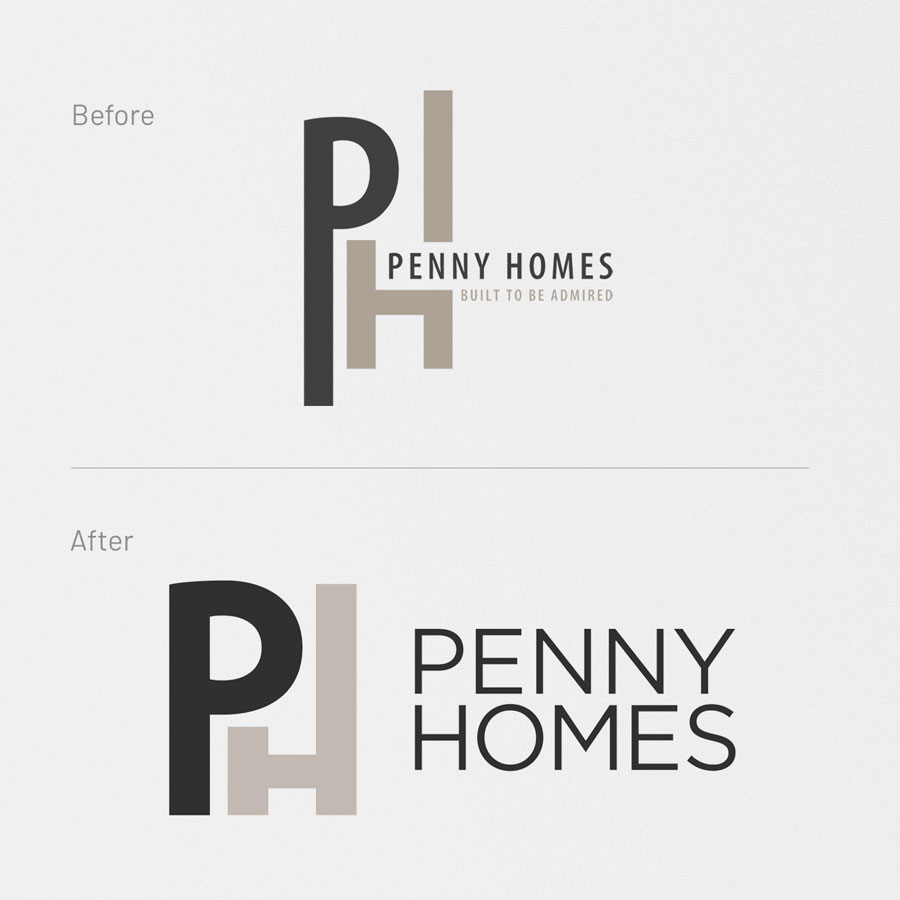 Penny Homes, Logo Design, Graphic Design, ninetyblack