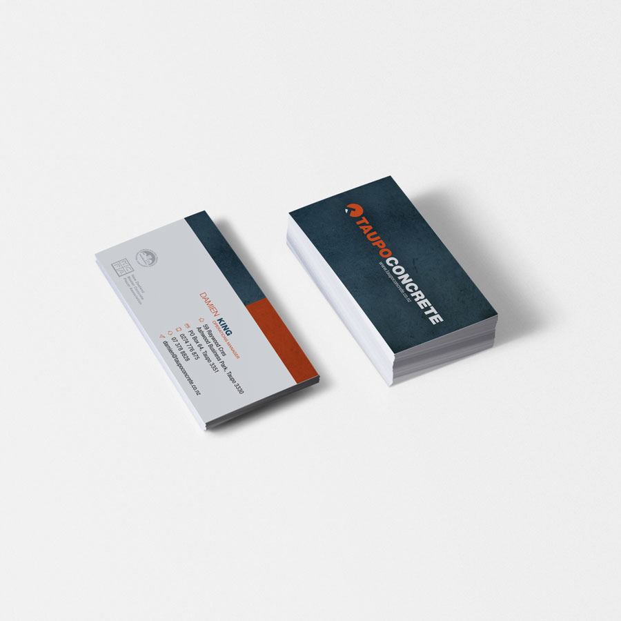 Taupo Concrete Business Card, Graphic Design, ninetyblack