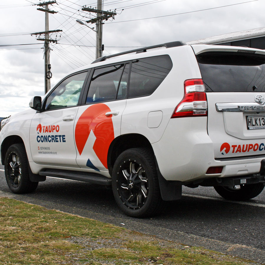 Taupo Concrete Car Branding, Graphic Design, ninetyblack