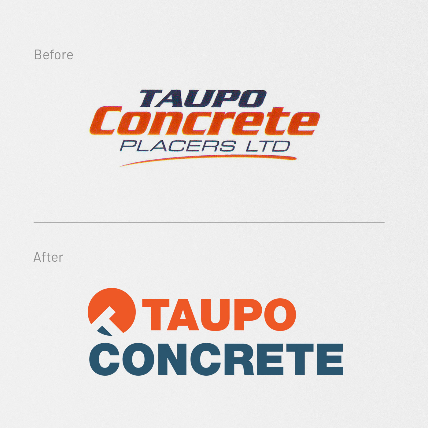 Taupo Concrete, Logo Design, Graphic Design, ninetyblack