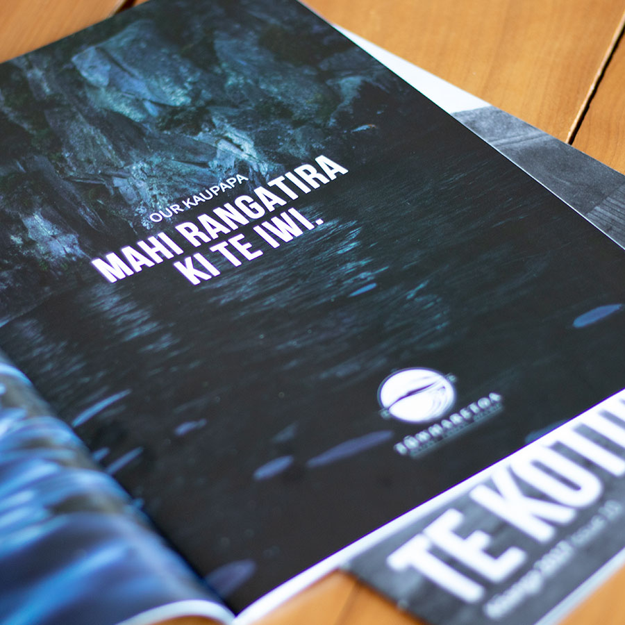 Te Kotuku Magazine, Graphic Design, ninetyblack
