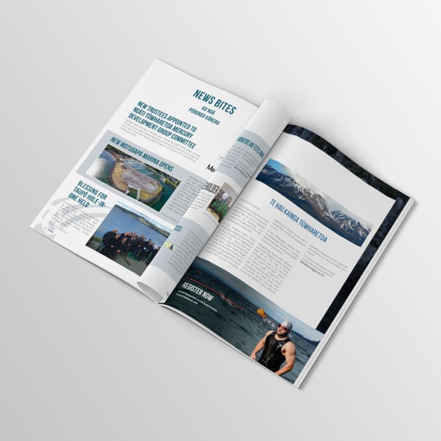 Te Kotuku, Magazine Design, Graphic Design, ninetyblack