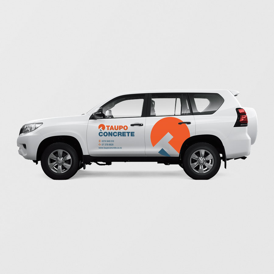 Taupo Concrete, Vehicle Signage, Graphic Design, ninetyblack