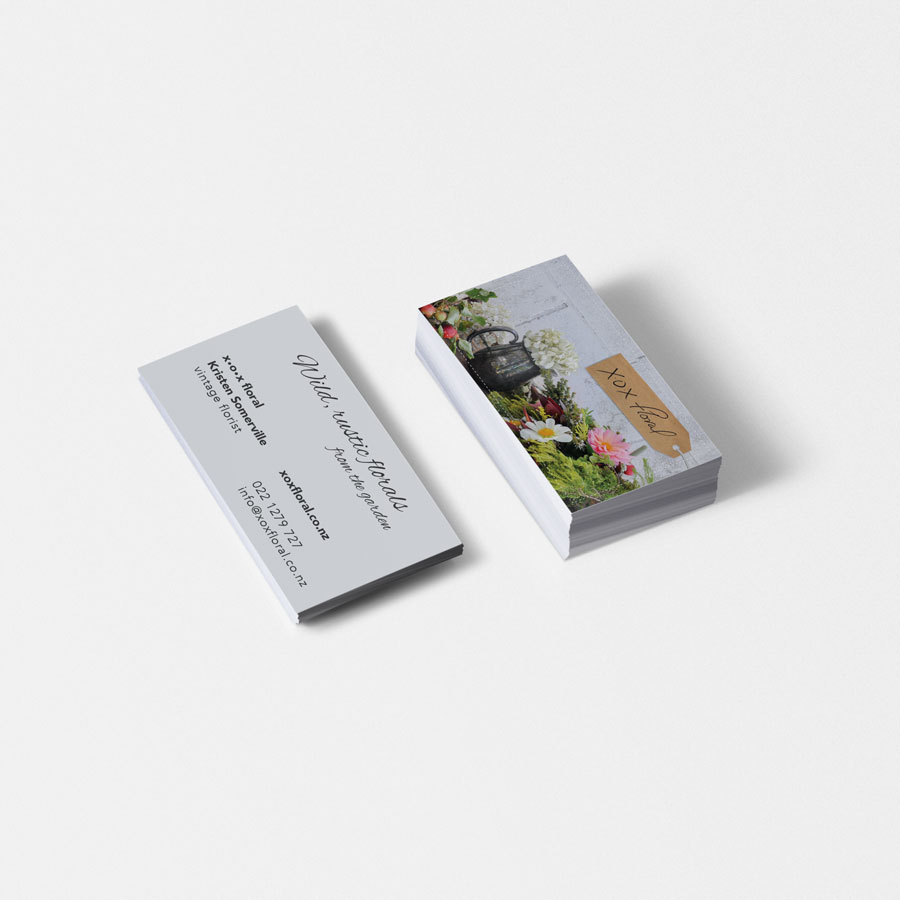 XOX Floral, Business Card, Branding, Graphic Design, ninetyblack