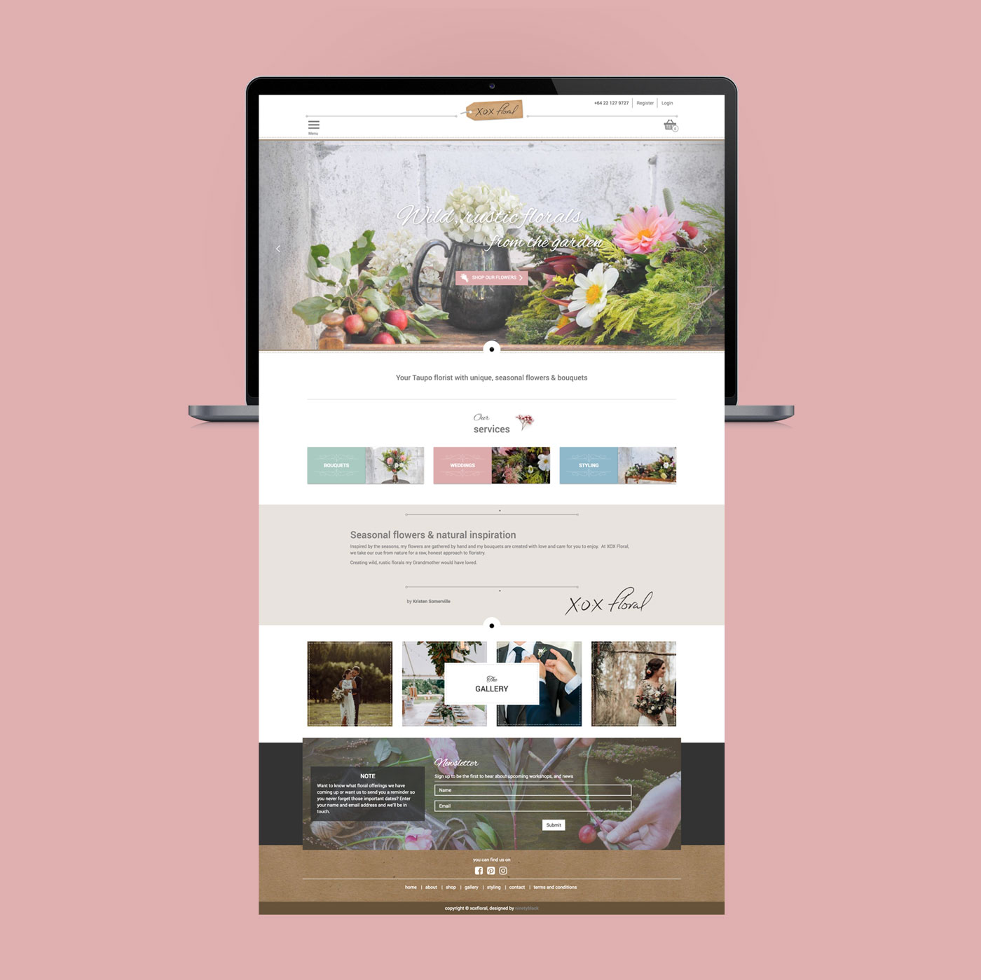 XOX Floral, Web Design, Development, Digital Marketing, ninetyblack