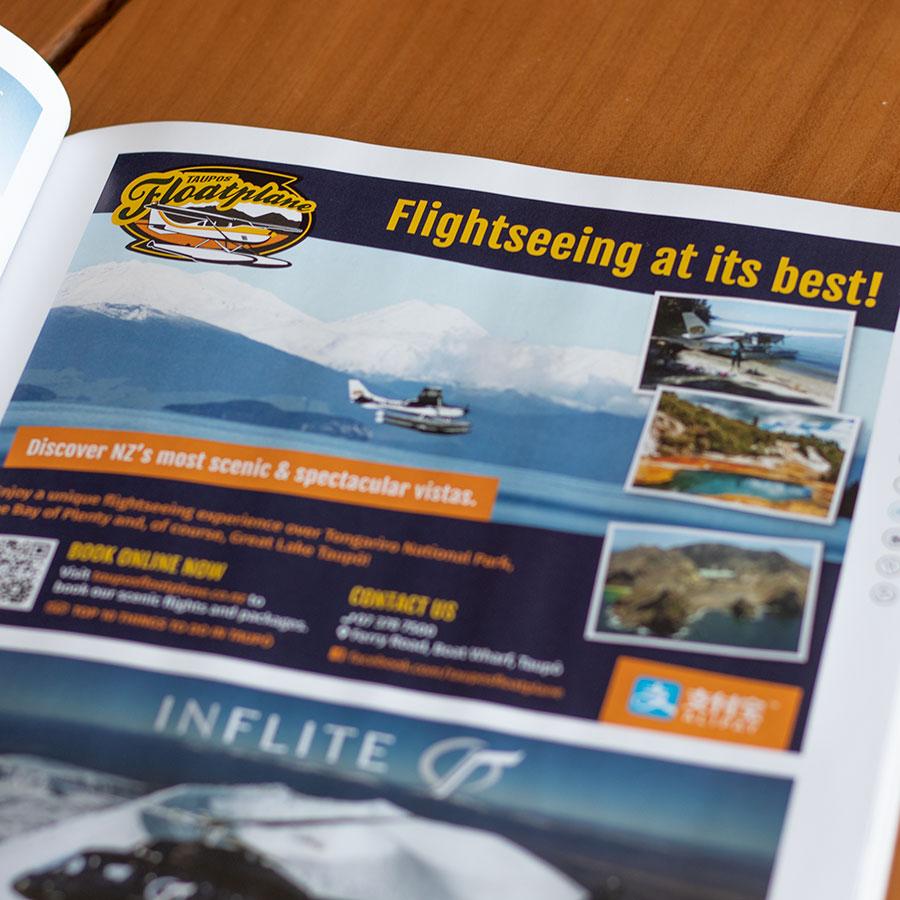 Taupo's Floatplane, Advertising & Publishing, ninetyblack