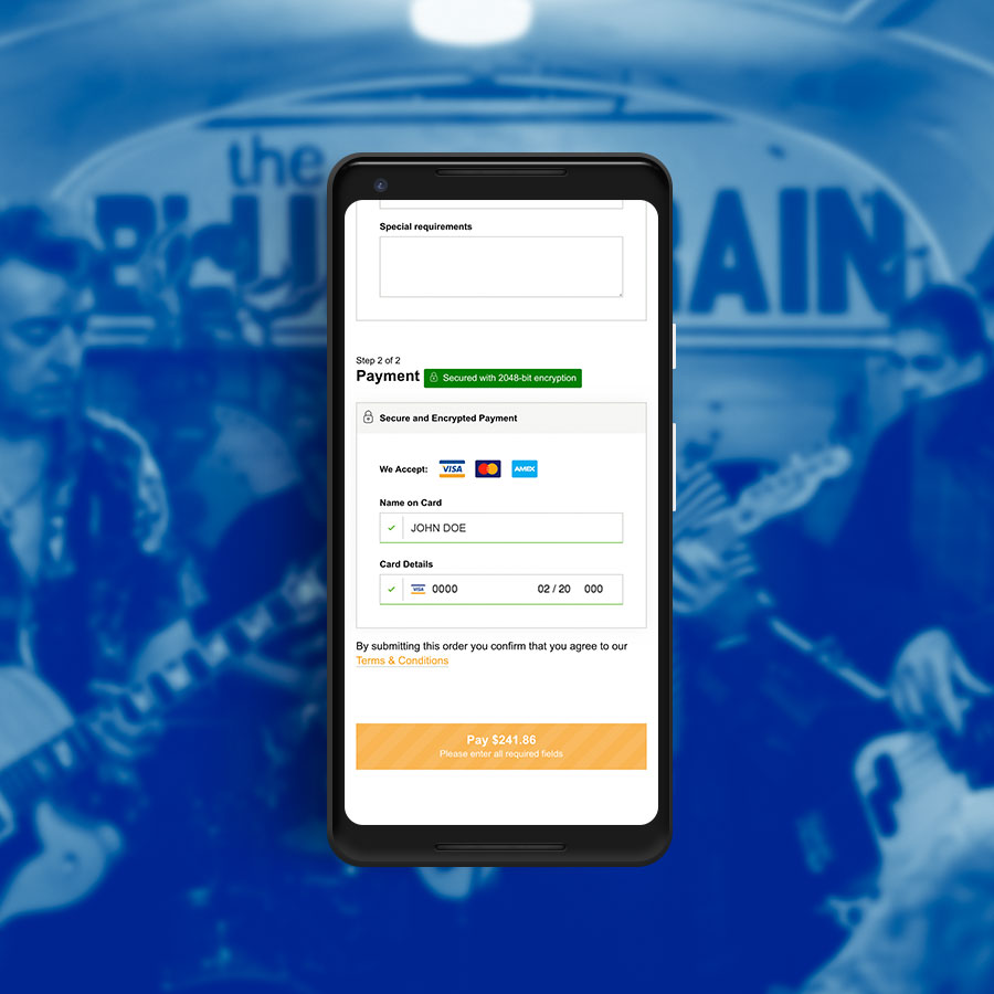 The Blues Train App, Website Applications, ninetyblack